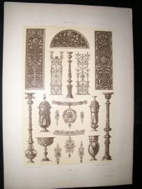 Anton Seder 1890 Folio Decorative Art Nouveau Botanical Design Print 45